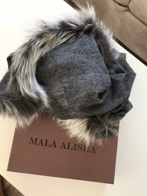 Mala Alisha Schal neu mit Etikett grau