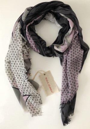 Mala Alisha Schal Rose grau schwarz * Vintage * NP €245 * NEU