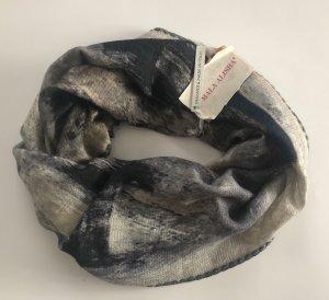 Mala Alisha Schlauchschal grau beige Vintage Schal - NP €199 !! NEU