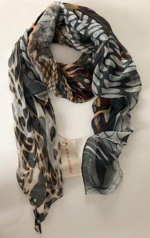 Mala Alisha * Seidentuch Animal Silk braun grau schwarz * NP € 245 * NEU