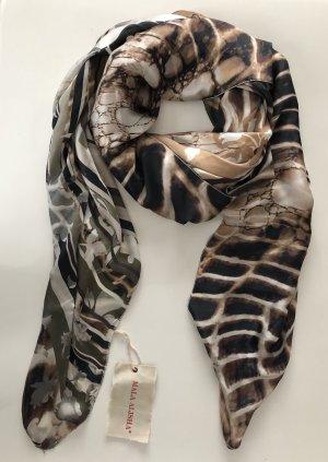 Mala Alisha * Seidentuch braun beige Animalprint * NP € 239