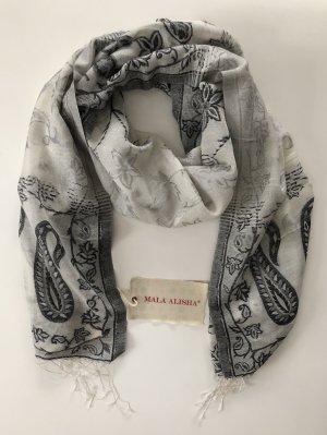 Mala Alisha Sommerschal Black white Paisley - NP €119