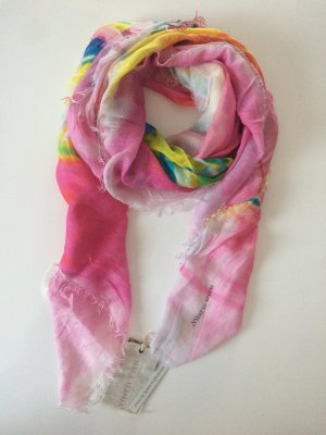 Mala Alisha * Sommerschal * Lemon * Pastell pink * made in Italy * NP € 299