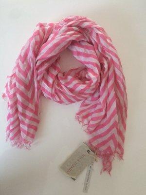 Mala Alisha Sommertuch Pink Stripes Tuch * weiß pink rose * NP € 249