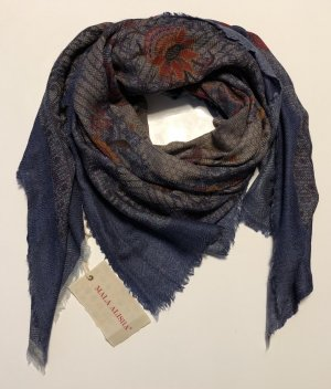 Mala Alisha Tuch Cashmere blau Grau * NP €245