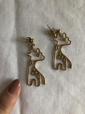 Malaika Raiss Giraffe Ohrringe Ohrstecker Gold