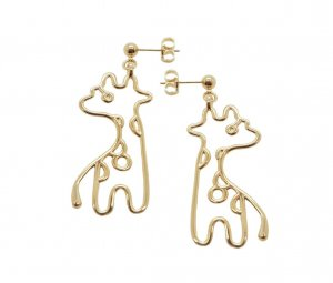 Malaika Raiss Giraffe Ohrringe Ohrstecker Gold