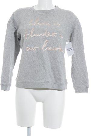Malaika Raiss Sweat Shirt light grey-pink flecked athletic style