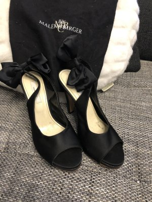 Malene Birger Peep Toe Pumps zwart