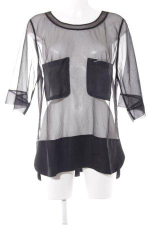 Malene Birger Netzshirt schwarz Elegant
