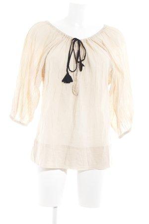 Malene Birger Transparenz-Bluse creme schlichter Stil
