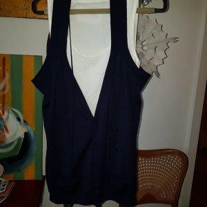 Malene Birger Weste dunkelblau Wolle XL *wie neu*