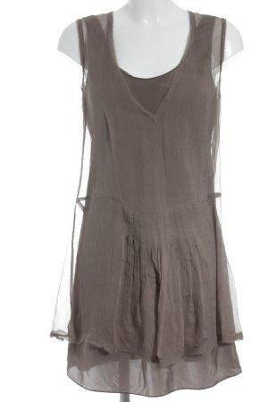 Maliparmi Robe chiffon gris brun Look de plage