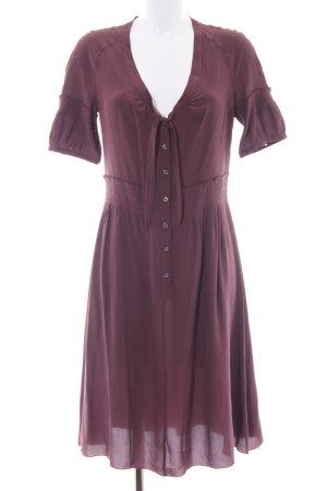 malo Blusenkleid braunviolett Casual-Look
