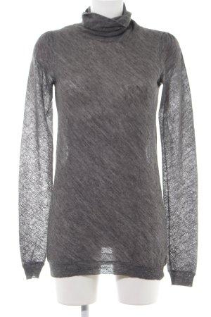 malo Maglione dolcevita grigio chiaro puntinato stile casual