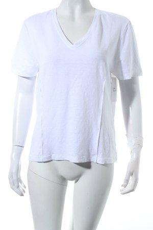 malo T-Shirt weiß schlichter Stil