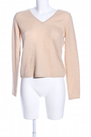 malo Pull col en V rose chair style d'affaires