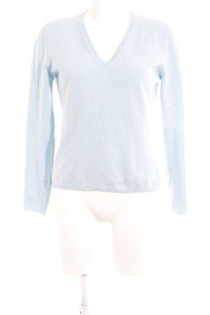 malo V-Ausschnitt-Pullover himmelblau Casual-Look