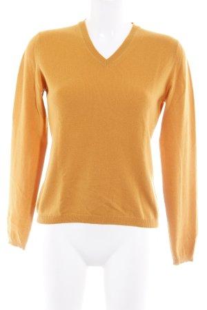 malo V-Ausschnitt-Pullover orange Casual-Look