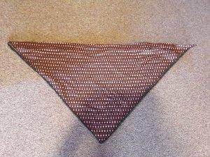 Maloja Dreiecktstuch schwarz/rot gemustert