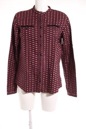 Maloja Longshirt schwarz-magenta Aztekenmuster extravaganter Stil