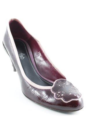 Maloles Zapatos Informales burdeos-rosa estampado floral look casual