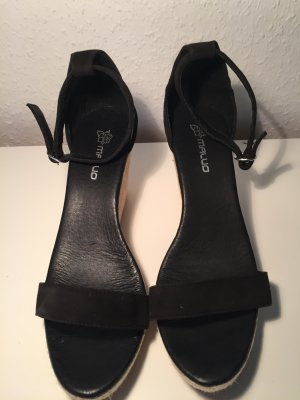 Wedge Sandals black-sand brown