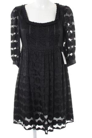 Malvin A-Linien Kleid schwarz Punktemuster Transparenz-Optik