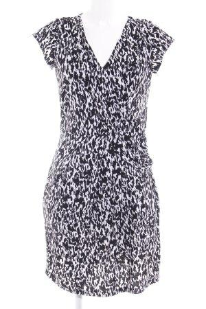 Malvin Cocktailkleid schwarz-weiß abstraktes Muster Elegant