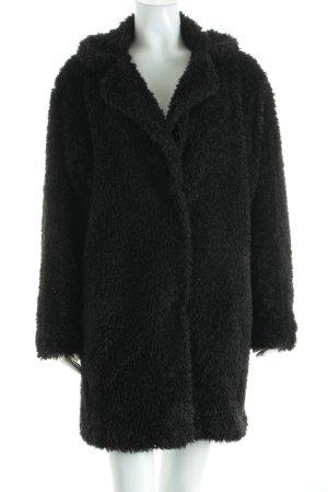 Malvin Giacca di pelliccia nero stile da moda di strada