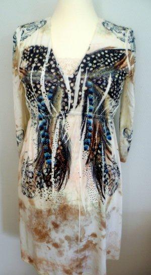 MALVIN/Hamburg-  Kleid mit Spitzeneinsätzen und Perlenstickerei