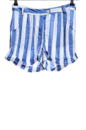 Malvin High-Waist-Shorts blue-white striped pattern casual look