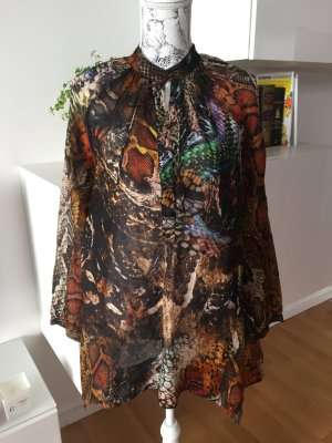 Malvin Kleid Tunika transparent bunt schlangenprint