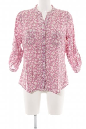 Malvin Langarm-Bluse pink-wollweiß Allover-Druck Casual-Look