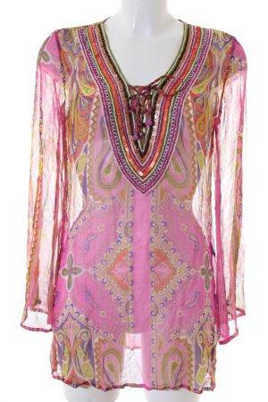 Malvin Langarm-Bluse florales Muster Gypsy-Look