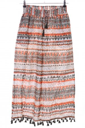 Malvin Leinenhose grafisches Muster Casual-Look