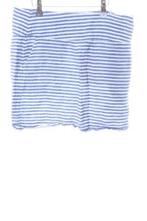 Malvin Leinenrock blau Streifenmuster Casual-Look