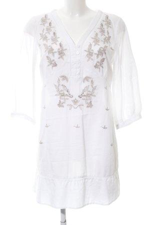Malvin Long-Bluse weiß-hellgrau Blumenmuster Casual-Look