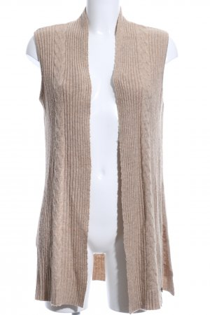 Malvin Long Knitted Vest natural white flecked casual look
