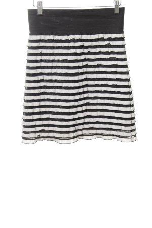 Malvin Minirock schwarz-weiß Streifenmuster Casual-Look