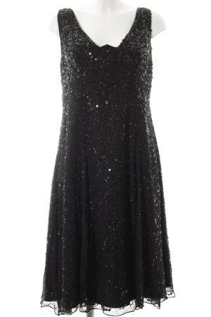Malvin Pailettenkleid schwarz Elegant