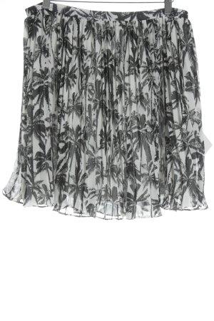 Malvin Plisseerock schwarz-wollweiß minimalistischer Stil
