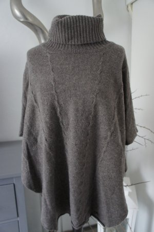 Malvin Knitted Poncho taupe
