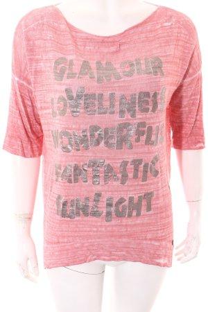Malvin Print-Shirt Schriftzug gedruckt Casual-Look
