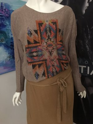 Malvin Pullover oversized ethno gipsy Look Wickelrock