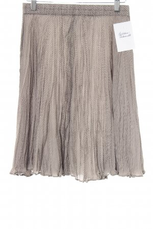 Malvin Seidenrock grau-weiß Punktemuster Casual-Look