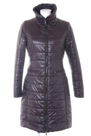 Malvin Manteau matelassé noir motif de courtepointe style décontracté