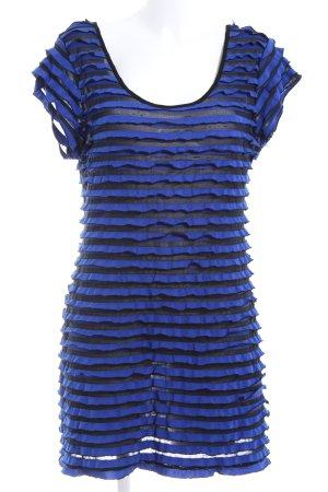 Malvin Stretchkleid blau-schwarz Streifenmuster Casual-Look