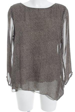 Malvin Transparenz-Bluse khaki-creme Animalmuster Animal-Look
