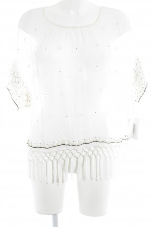 Malvin Transparenz-Bluse wollweiß Blumenmuster Casual-Look